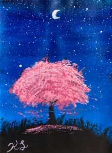 Cherry Blossom Night scene