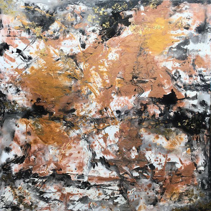 Heart Of Gold - Lynne Godina-Orme   Australian abstract artist