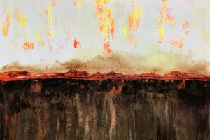 Two Worlds Collide - Lynne Godina-Orme | Australian abstract artist