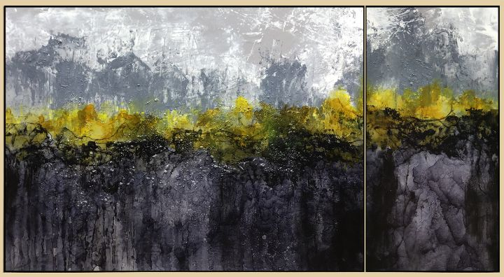 From Dusk Till Dawn - Lynne Godina-Orme   Australian abstract artist