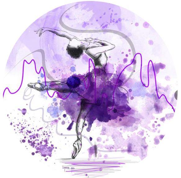 Let's Dance - Purple - Lynne Godina-Orme | Australian abstract artist