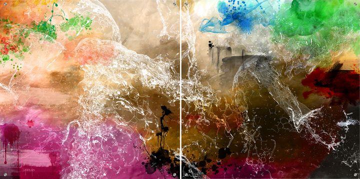 Waterfall - Lynne Godina-Orme   Australian abstract artist