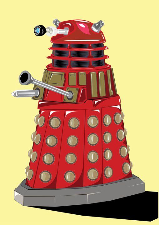 Unofficial Dalek Digital Artwork - Luke Morgan