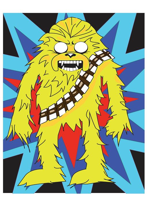 Unofficial Jake-Chewbacca Digi Art - Luke Morgan