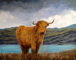 Angus at loch Awe.  Sold