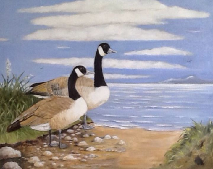 Afternoon at the lake - Pam's Art