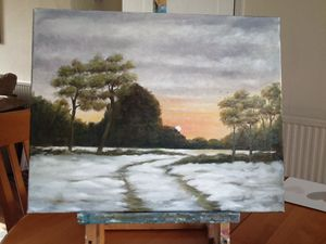 Winter. Sunset. Sold