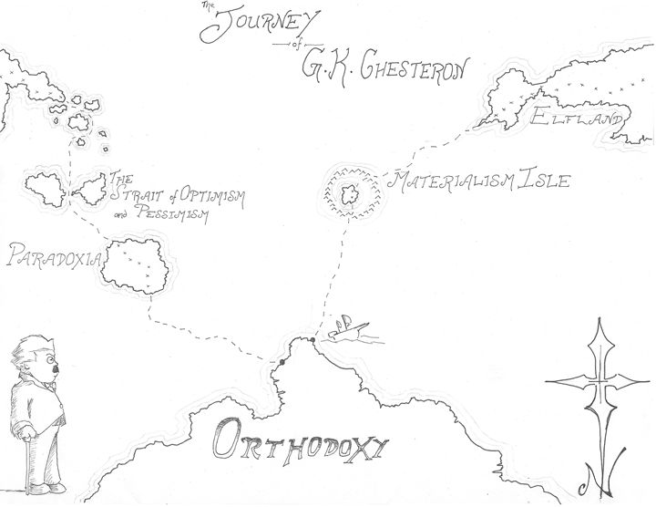 Map of Orthodoxy (Chesterton) - Nikolai Draws