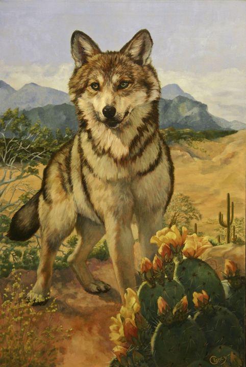 Mexican Wolf - Clancy Cherry  Wildlife Artist