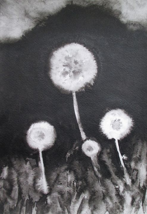 Family of Dandelions - Julia Gogol Art