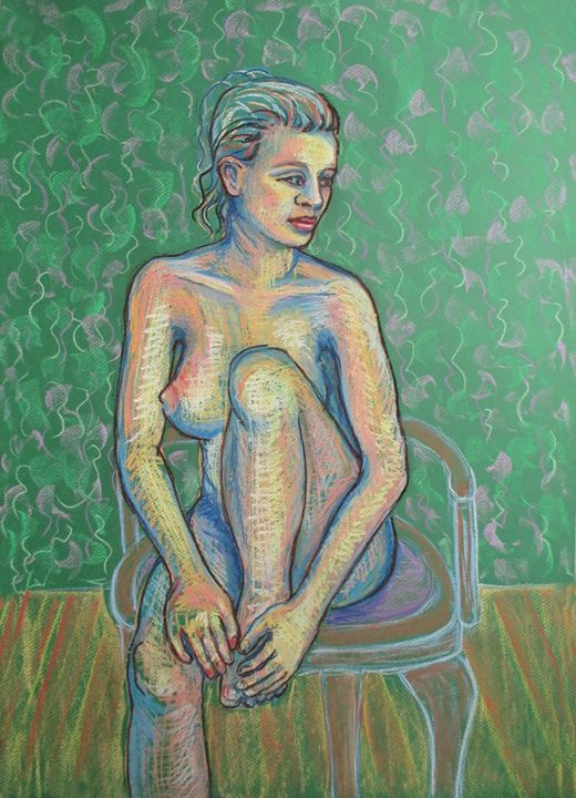 Girl on a chair / Female Nude - Julia Gogol Art