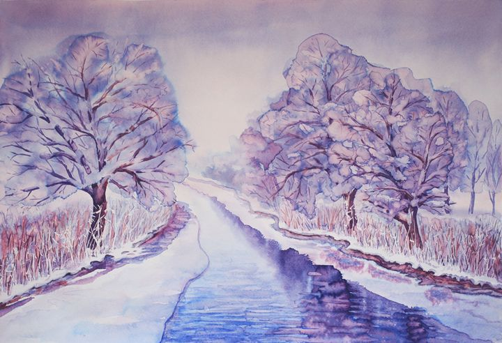 Graceful winter - winter landscape - Julia Gogol Art