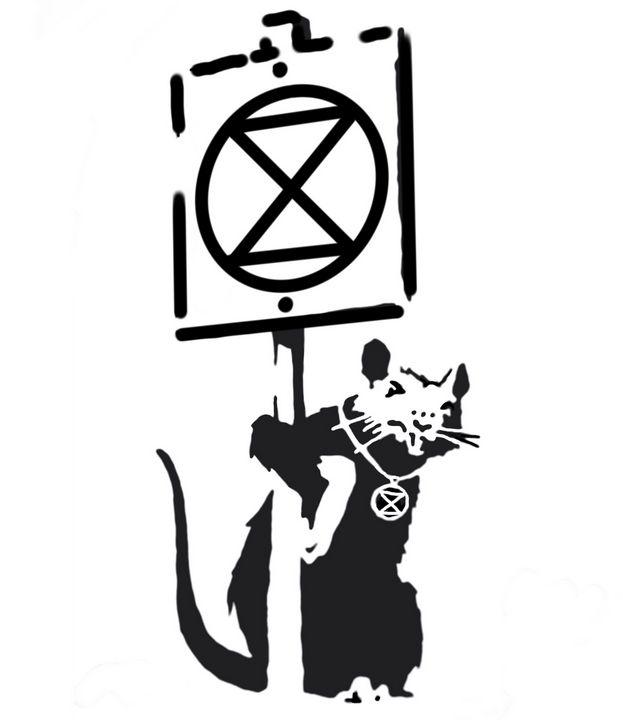 Banksy rat extinction rebellion - I am the real banksy