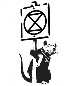 Banksy rat extinction rebellion