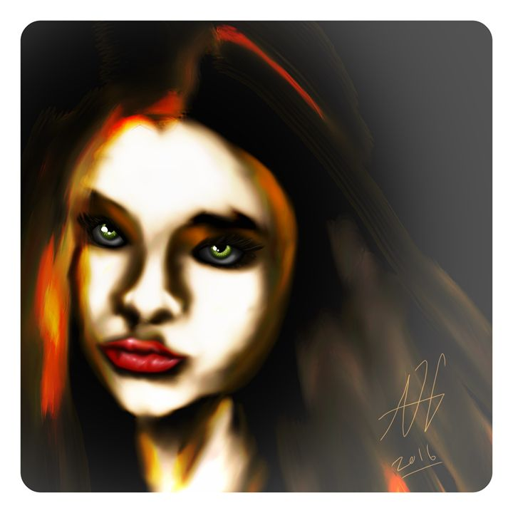 Girl with the emerald eyes - Ashley Hawkins
