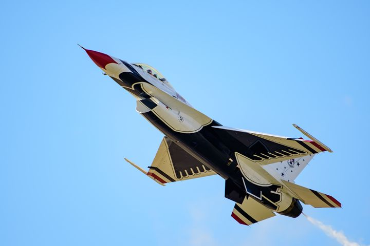 USAF Thunderbirds Five High Nose Up - Jarrett Art