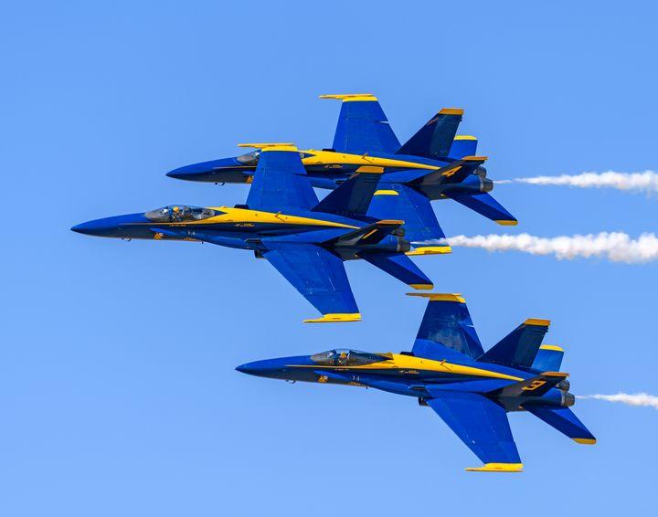 Blue Angels F-18 Hornets in formatio - Jarrett Art