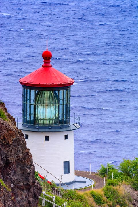 Makapu'u Point Lighthouse, Vertical - Jarrett Art