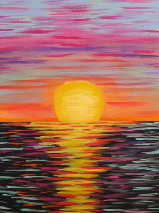 Sunset - Melanie Lutes Art by Mel