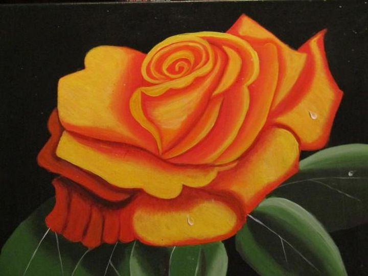 Yellow Rose - Melanie Lutes Art by Mel