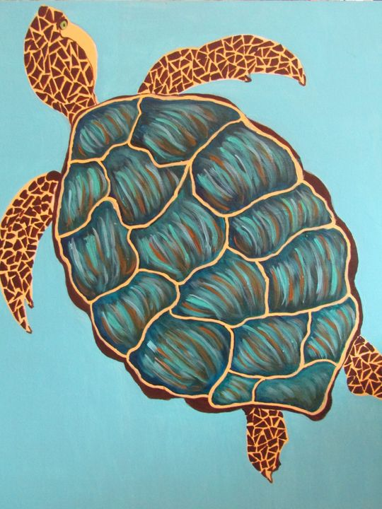 Oscar the Sea Turtle - Melanie Lutes Art by Mel