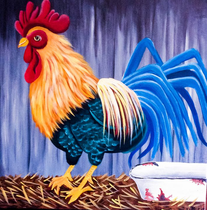 Rooster - Melanie Lutes Art by Mel