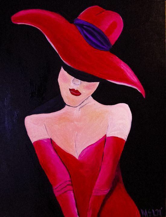 Lady in Red - Melanie Lutes Art by Mel