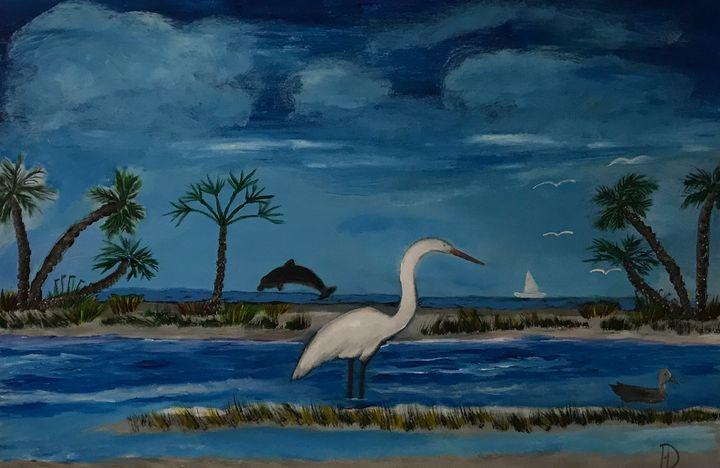 Egret at Dust - DocH