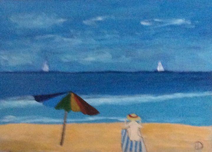 Little Girl on the Beach - DocH