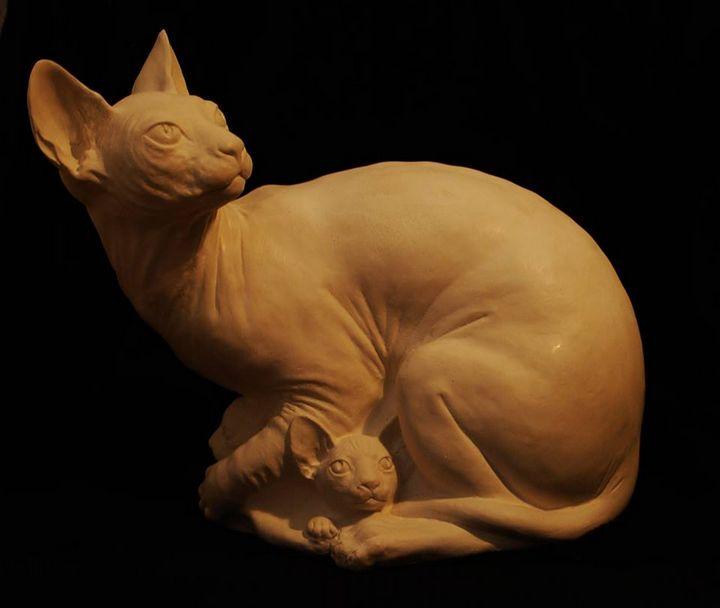 The Sphynx cat - worldofsculptures