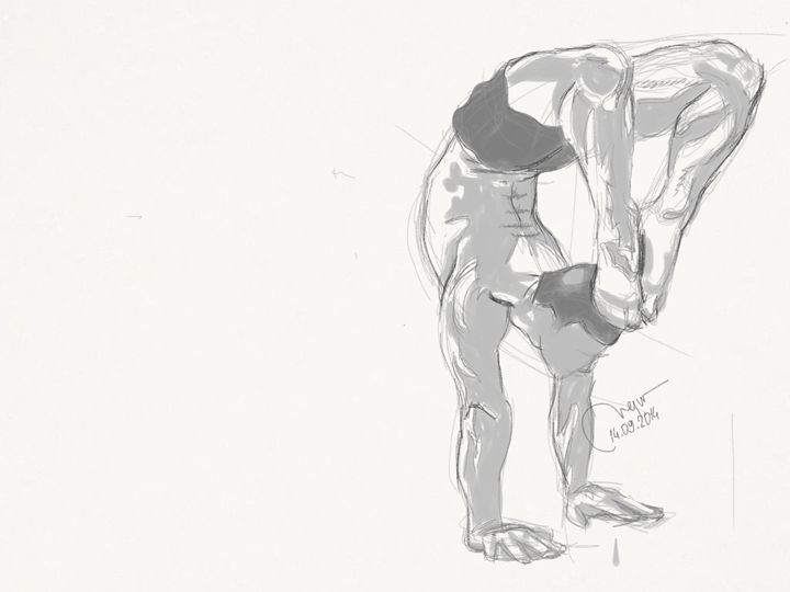 Sketch of a male figure. - BMArt
