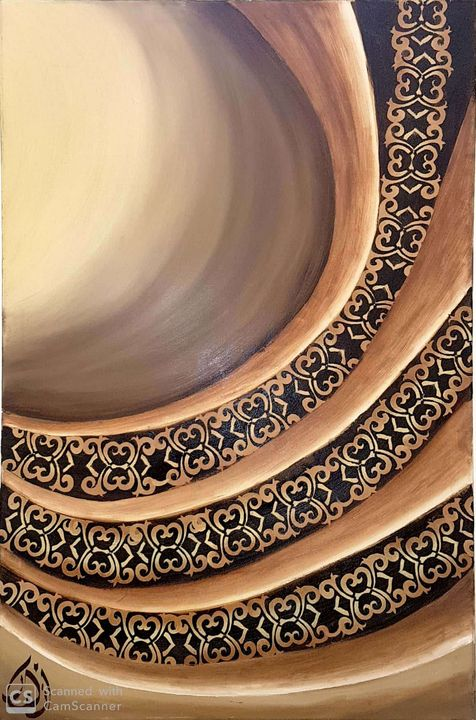 "(Warmth) oil on canvas 24 ""x 36"" - Azahar behyan"