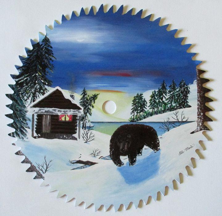 Bear In The Woods - EdieMarie's Art