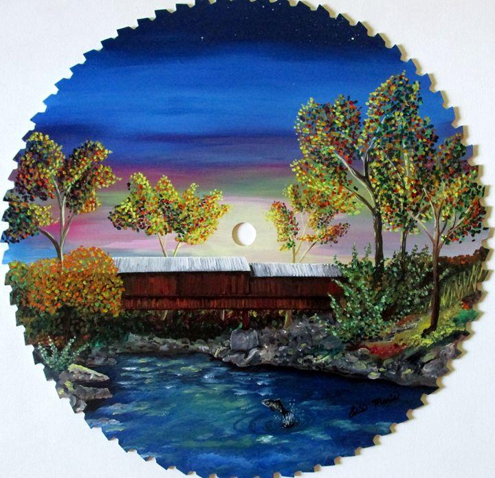 Butte Co Covered Bridge - EdieMarie's Art