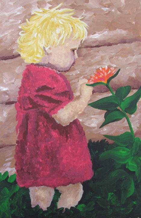 Discovering Flowers - EdieMarie's Art