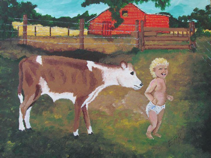 The Gentle Calf - EdieMarie's Art