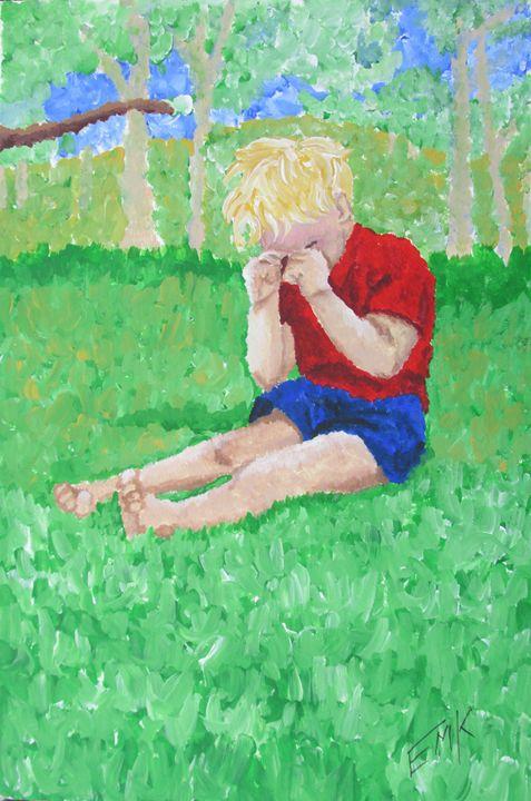 Tired Farm Boy - EdieMarie's Art
