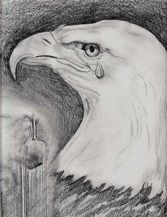 911 Crying Eagle - EdieMarie's Art
