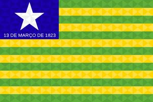 Bandeira Piauí Grafismo Geométrico