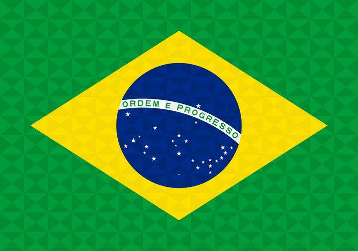 Bandeira Brasil Grafismo Geométrico - Dan Duarte
