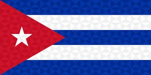 Bandera Cuba Grafismo Geometrico