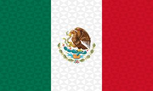 Bandera Mexico Grafismo Geometrico