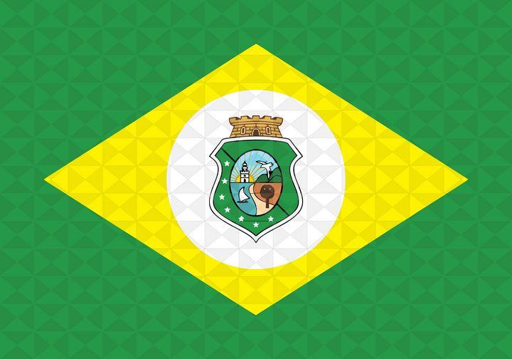 Bandeira Ceará Grafismo Geométrico - Dan Duarte