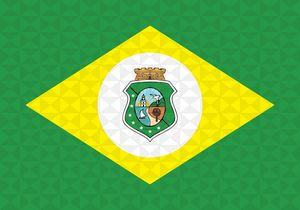 Bandeira Ceará Grafismo Geométrico