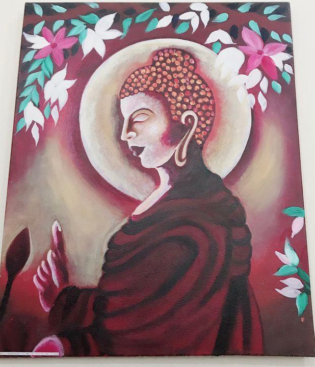 Colourful bhudha painting - DK