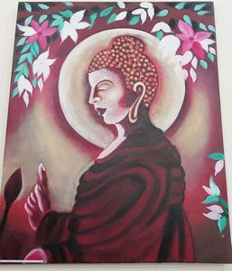 Colourful bhudha painting