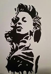 'Yonce (Wet Ink Collection) Painting