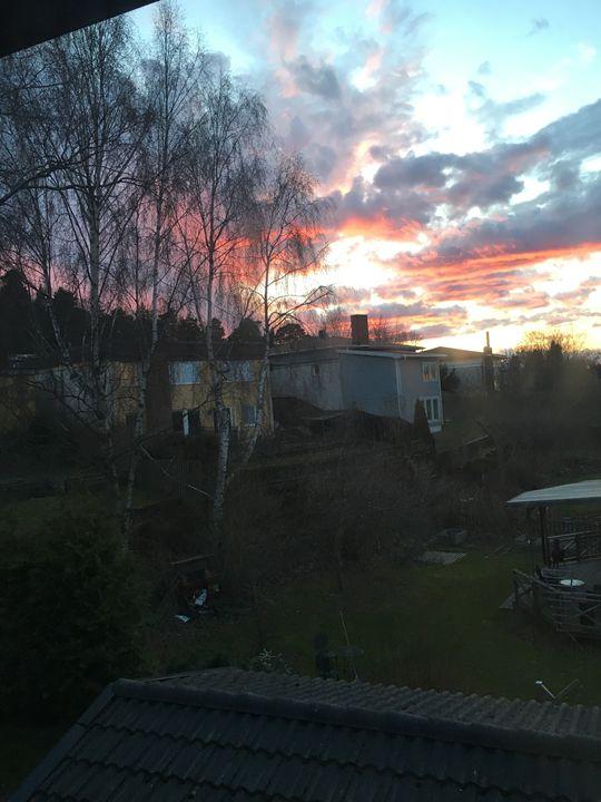 Orange sunset - My paintings