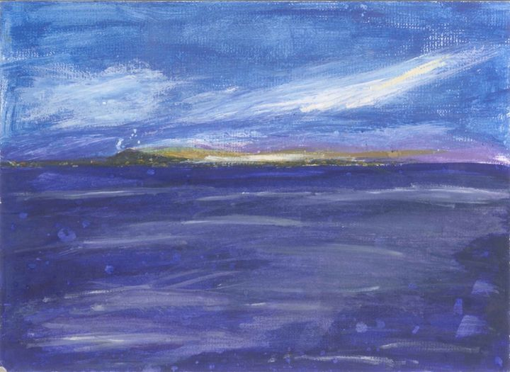 Sunset on an island - My paintings