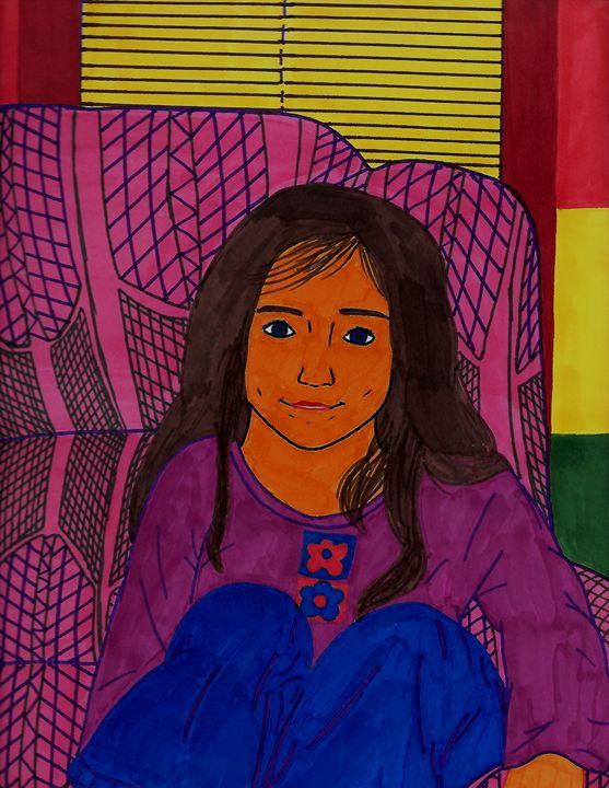 Girl - Desert Drawings